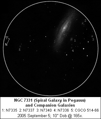 Sketch of NGC 7331